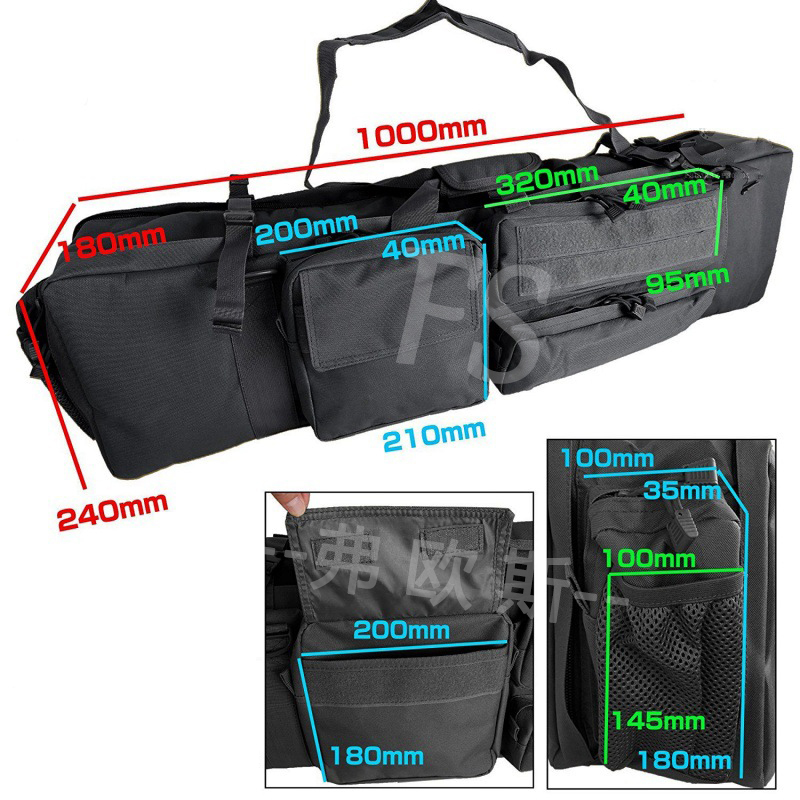 Image 5 - M249 Tactical Hunting Bag Military Airsoft Shooting Rifle Gun Case Large Capacity Shoulder Bag Nylon Gun Holster Pouch-in Holsters from Sports & Entertainment