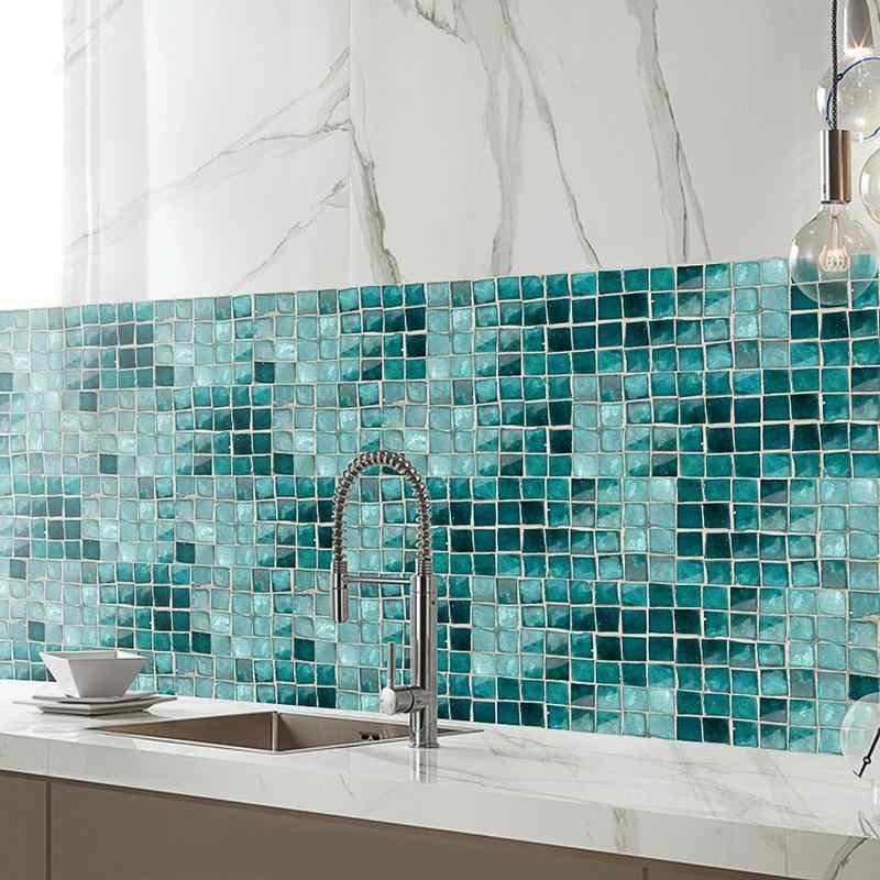 5 m PVC pegatina de pared de baño impermeable autoadhesivo papel de pared de cocina azulejos de mosaico adhesivos de pared decoración del hogar 40