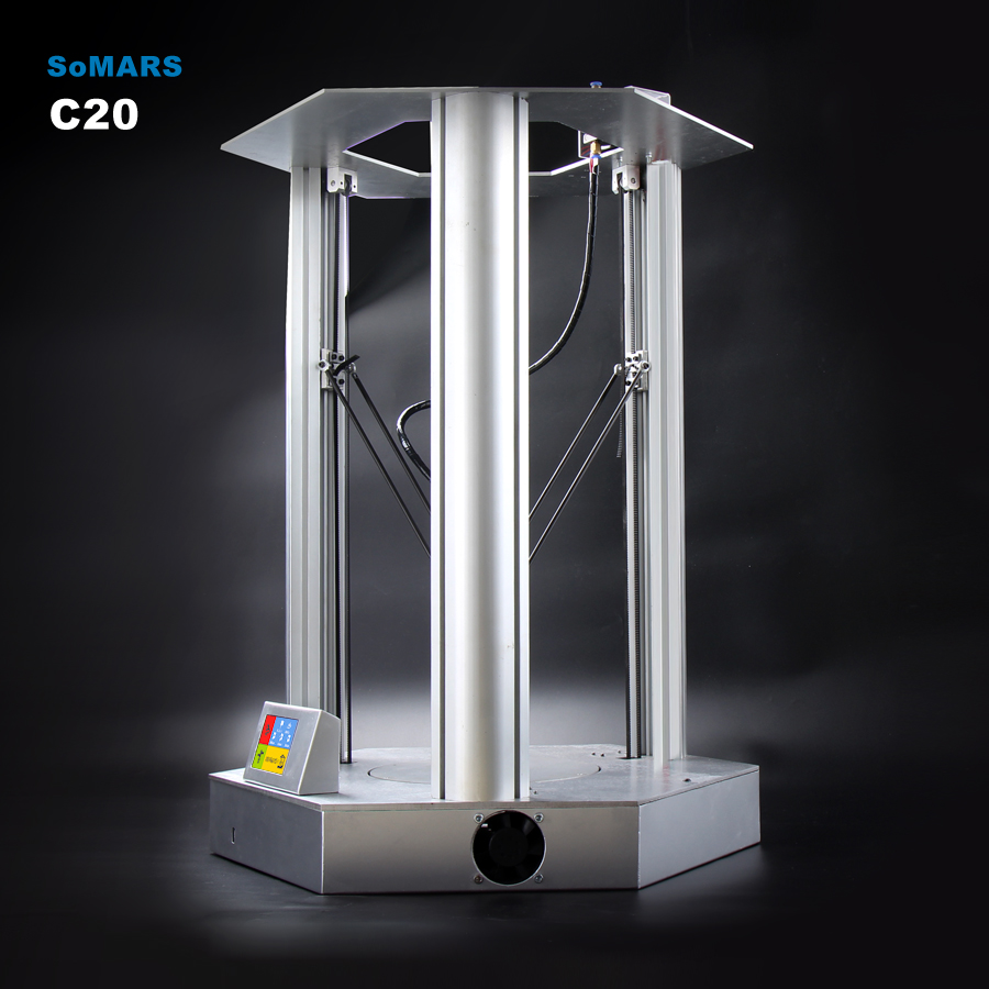 C20 Delta Kossel SoMars Pantalla Táctil Full Metal 3D 200x300mm