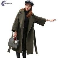 TNLNZHYN Women Clothing Warm Woolen Coat Winter High End Fashion Big Size 7 Points Sleeves Long