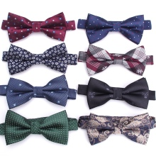 Мужской галстук-бабочка, модный, в полоску, Деловой, Свадебный галстук, мужские вечерние галстуки, жаккардовые галстуки-бабочки для мужчин, подарочные галстуки, аксессуары для рубашек