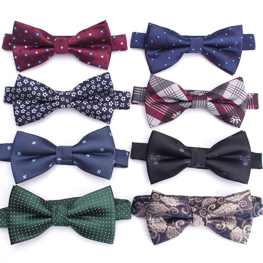 Men Bowtie Fashion Stripe Business Wedding Necktie Mens Party Dress Jacquard Bow Ties For Man Gift Cravats Shirt Accessories