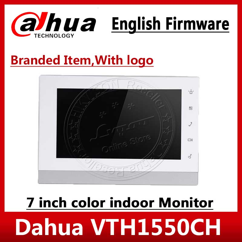 Dahua VTH1550CH Original English version Video Intercom 7 inch Indoor POE Touch Screen Monitor with logo