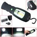 Leve 3 W COB Lâmpada LED + 1 LEDs Lanterna de Trabalho Magnetic Hanging Luz Camping pesca da noite em busca de