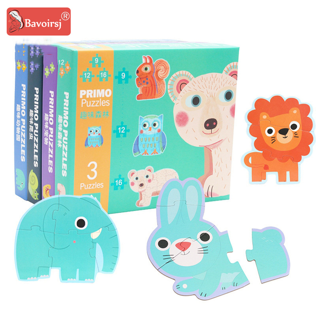 Educational Games Toddler Toys Paper Puzzle Cartoon Kids