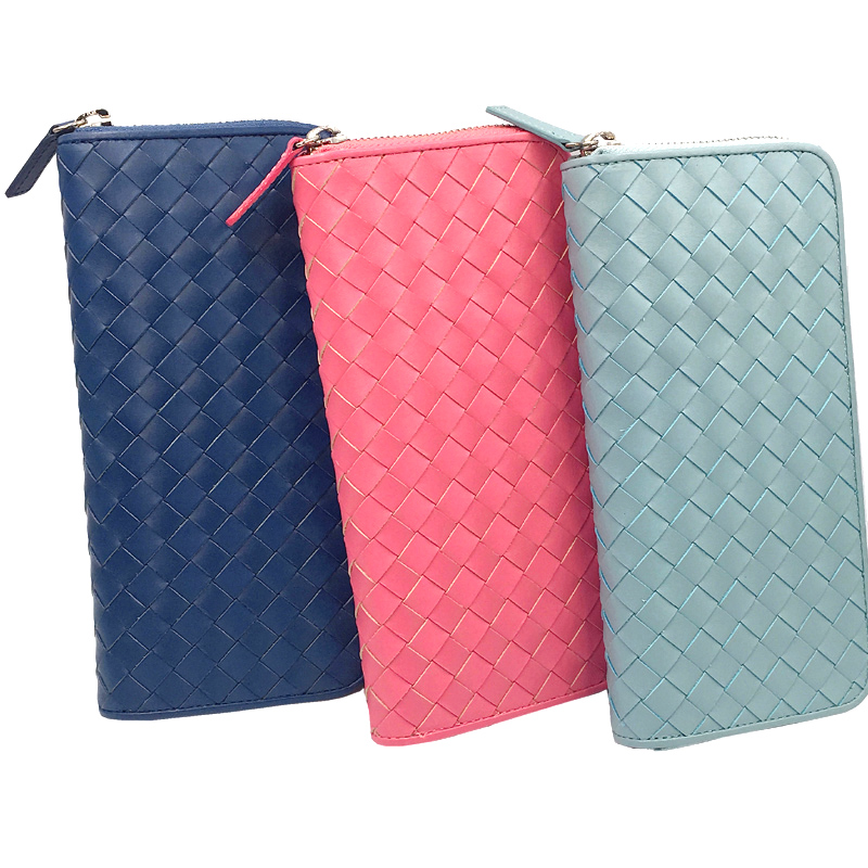 Women Wallet Female Deluxe Genuine Leather Long Design Wallet Cowhide Notecase Girl Burse Coin Purse Billfold Holder Mobile Case new arrival women genuine leather long design cowhide coin wallet phone case weave wallet fashion bifold purse bag
