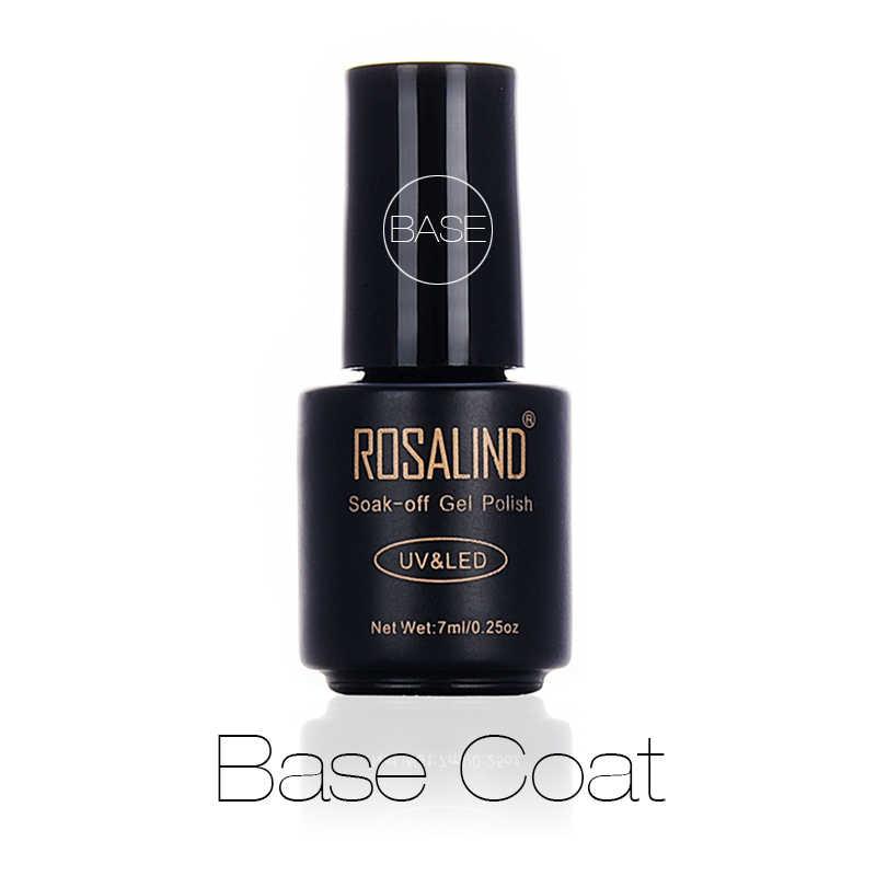 רוזלינד אוטם מבריק 7 ml מעיל בסיס ציפורן מניקור משרים כבוי UV למעלה לאורך זמן ציפורניים פריימר בסיס ג 'ל לכות