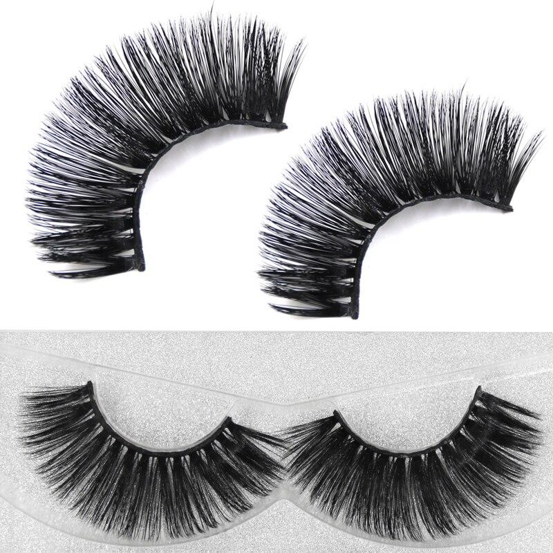 YOKPN Pure Hand Made Thick Long Lashes Luxury Mink Hair Fake Eyelashes Long Black Volume Eyelash Mink False Eye Lashes Makeup