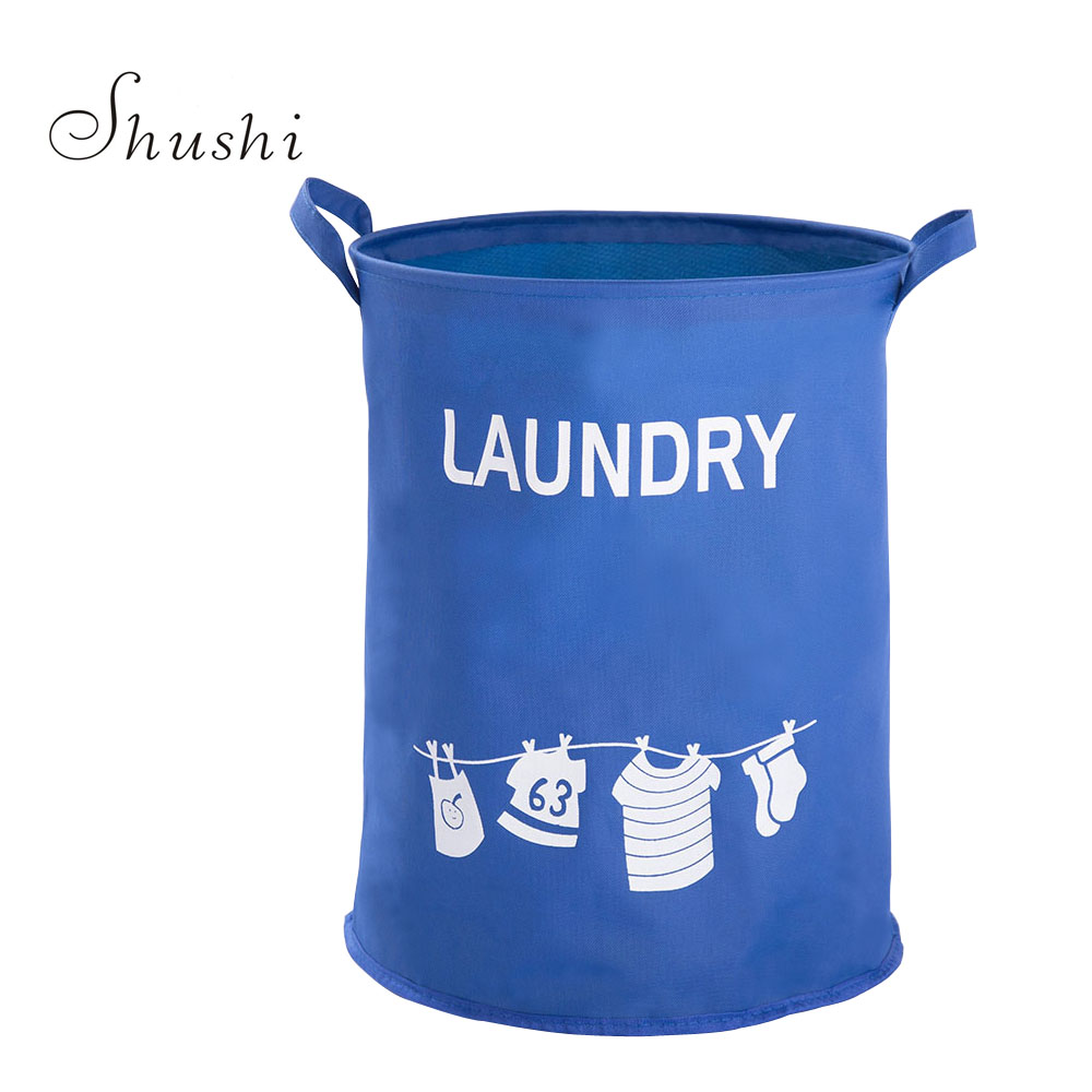 Dirty Laundry Baskets Us 9 35 Off Shushi Hot Fashion Waterproof Dirty Clothes Storage Baskets Oxford Laundry Bucket Laundry Baskets Foldable Laundry Hamper Barrel In