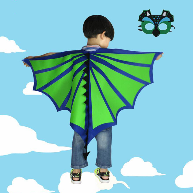 Little dinosaur wings cloak with mask goggles suit Halloween costume children gifts