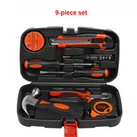 New Style 9PCS Quality Home Tools Household Tool Set Home Repair Tool Set Hand Tools Boxes Set For Home Repair Wholesale HR