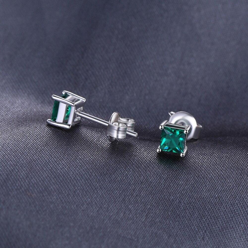 Nakit stvorio Nano Smaragdne naušnice 925 srebrne naušnice za žene - Fine nakit - Foto 3