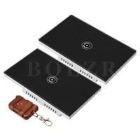 BQLZR 90 250V US Black Smart Wifi Wall Switch Glass Panel 1 Gang Brown Transmitter