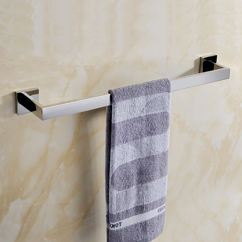2016 Modern Bathroom Single Towel Bar Bathroom Rack Hanging Hardware Stainless Steel 304 towel rack Q7002 stainless steel bathroom towel rack rotation activities bar single pole double hanging three bathrooms