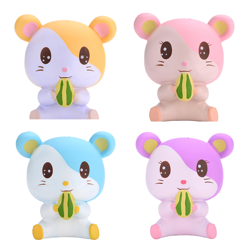 100% Quality 2018 New Soft Cute Hamster Squishy Kawaii Animal Phone Straps Slow Rising Squeeze Bread Cake Scented Fun Kid Toys Free Shipment A Plastic Case Is Compartmentalized For Safe Storage