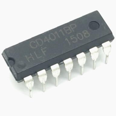 2x NTE4011B CD4011 quad 2-input  NAND gate IC Free Shipping