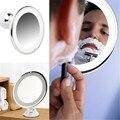7X 7X Lupa Espejo de Maquillaje Iluminado espejo de Aumento Espejo de Maquillaje-Ajustable con el Poder de Bloqueo Ventosa Envío Gratis