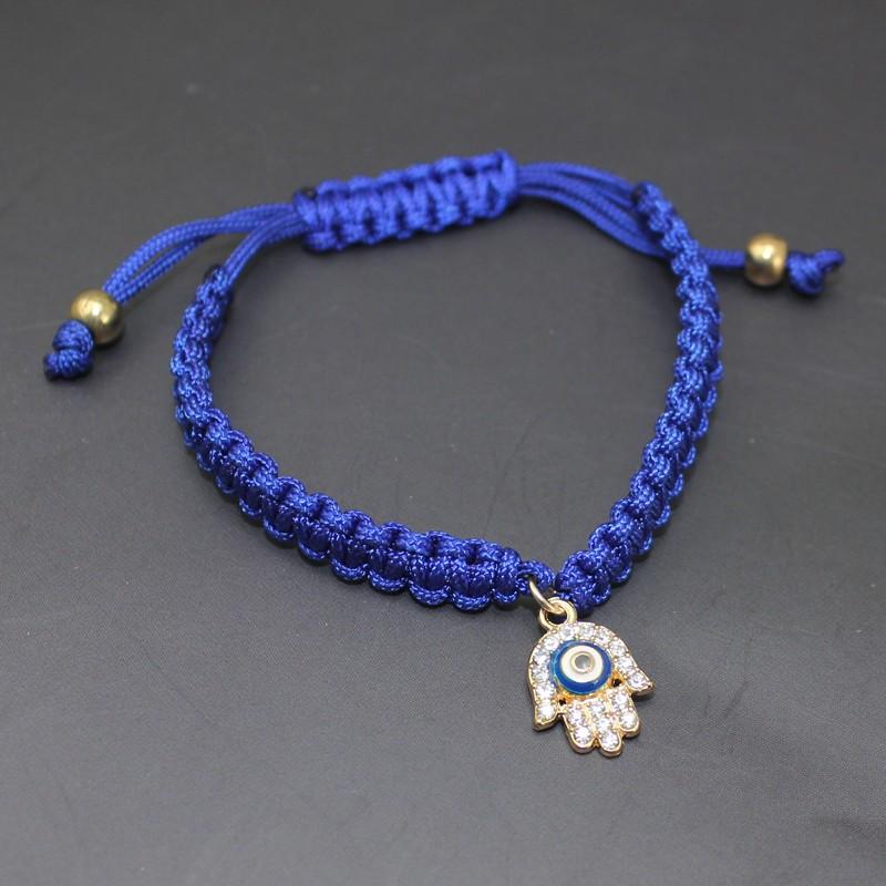 Handmade Braided Rope Bracelets Red Thread Turkish Jewelry Crystal Hamsa Hand Charm Bracelets Bring Lucky Peaceful Bracelets 20