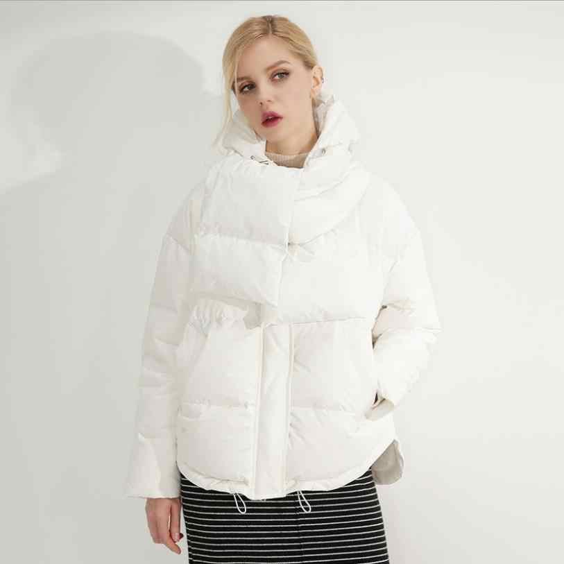 56d0229d79a ... Зимняя новая модная брендовая куртка-пуховик на белом утином пуху