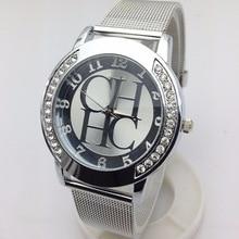 Hot Sale Top luxury brand Gold Bear Metal Mesh Stainless Casual Quartz Watch Women Dress Crystal Watches Relogio Feminino Clock