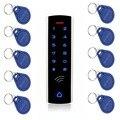 10 шт. RFID карты + RFID 125 кГц EM карта  сенсорная клавиатура  система контроля доступа  водонепроницаемый металлический корпус  светящийся для вхо...