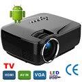 Nuevo Mini proyector Android 4.4 WIFI Bluetooth 4.0 HD LED Multimedia Proyectores de 1600 Lúmenes de cine En Casa LCD Projektor Beamer