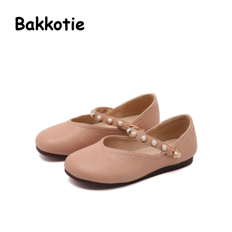Bakkotie 2018 Spring New Baby Girl Soft Fashion Pu Leather Pearl Mary Jane Child Party P ...