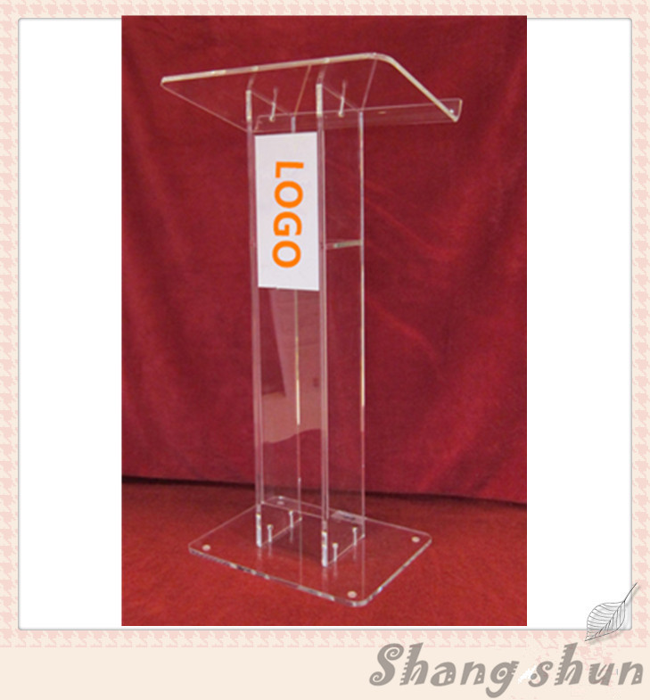 Shenzhen Custom Church Podium, Crystal Acrylic Pulpit, Acrylic Podium Pulpit Lectern