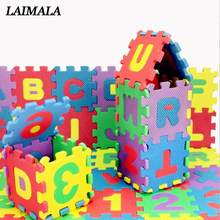 36 Pcs/Set 3D Puzzle Jigsaw Kids Children Mini EVA Foam Alphabet Letters Numbers Floor Soft Educational Toys Baby Play Mat Toy(China)