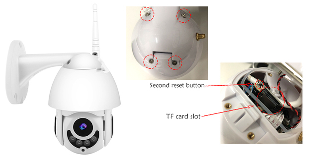WIFI Camera Outdoor PTZ IP Camera H.265X 1080p Speed Dome CCTV Security Cameras IP Camera WIFI Exterior 2MP IR Home Surveilance 1
