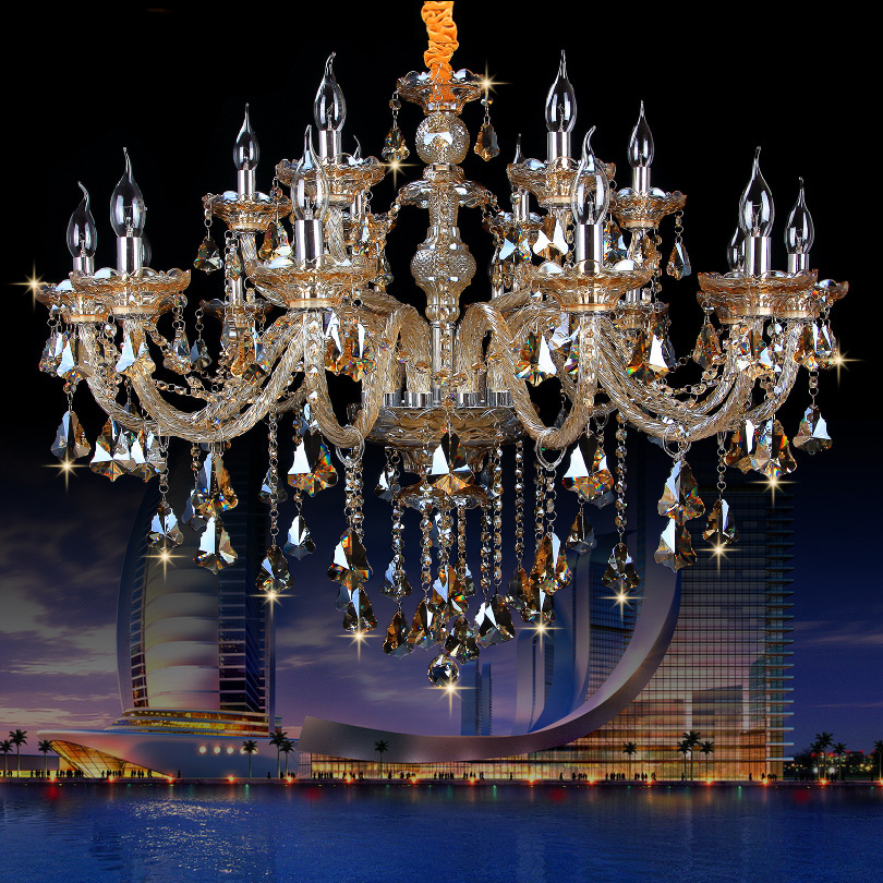 New Luxury led crystal Chandelier K9 large crystal chandeliers 6/8/10/15/18 arm Living Room modern Lustres De Cristal chandelies crystal home lighting indoor lamp room chandeliers modern crystal light chandelier luxury cognac color top k9 crystal 6 8 arm