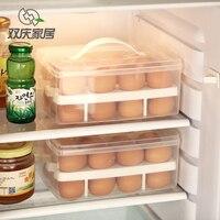 Clear Plastic 24 Grid Bilayer Basket Organizer Egg Food Container Storage Box Home Kitchen Transparent Case
