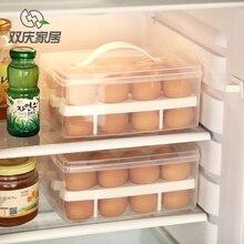 Прозрачная пластиковая 24 сетки Бислоя яйцо коробка Корзина организатор Яйцо Пищевой Контейнер Для Хранения box главная кухня прозрачный корпус яйцо поле