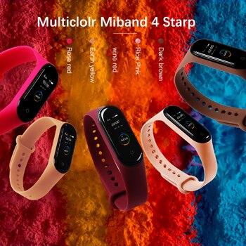 BOORUI for xiaomi mi band 4 strap new fashional colorful miband 4 strap silicone mi band 4 belt replacement for xiaomi mi 4 band 1