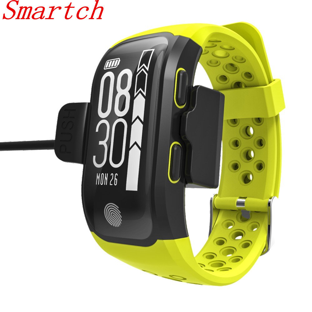Smartch GPS Smart Wristband S908 Support Smart notification Activity detection Pedometer Heart Rate Smart band Fitness