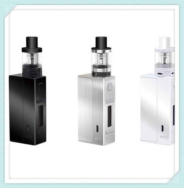 100% original Aspire EVO75 kit come with NX75 MOD add atlantis evo tank matterial Zinc Alloy 2 ml Replacement Pyrex Tube