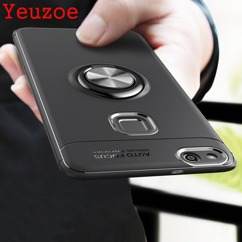 Yeuzoe Fashion Cover For Huawei P10 lite case silicone Finger Ring Stealth bracket for Huawei P10 plus case P10lite P10plus capa ...