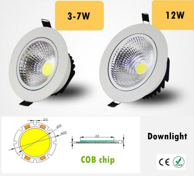 Sporting 4x Super Bright 15w 25w 50w Cob Led Recessed Downlights 3000k 6000k Adjustable Led Track Light 3 Years Warranty Free Shipping Lights & Lighting