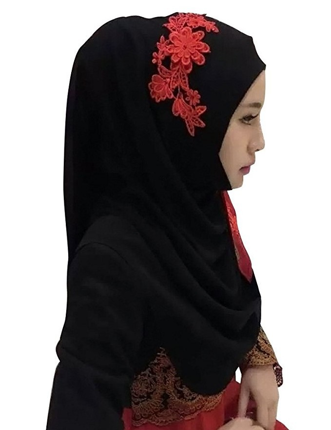 Хлопковый хиджаб шарф, кружевной вышитый сшивание дизайн женский хиджаб платок на голову длинные шали обертывания Джерси мусульманский шарф