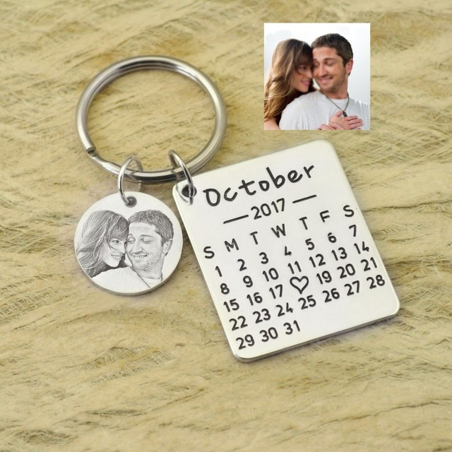 Aliexpress  Buy Personalized Calendar Keychain Hand Stamped