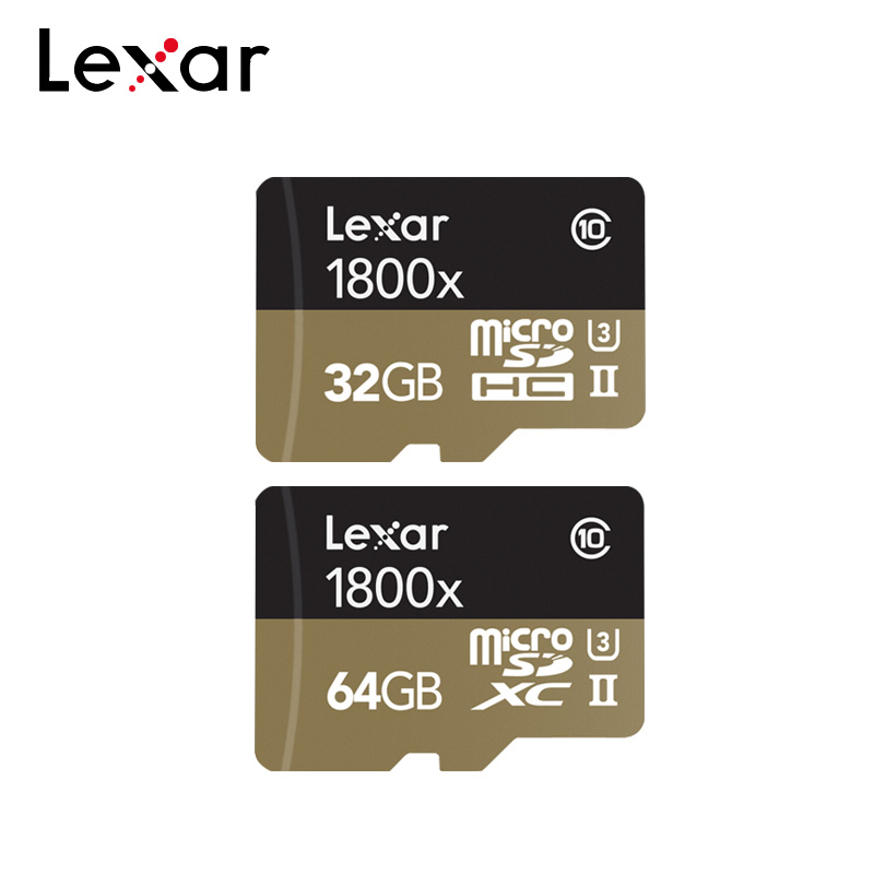 100% Original Lexar 1800x Memory Card 32GB 64GB Max Reading Speed 270MB/s UHS-II Class 10 U3 Micro SD Card