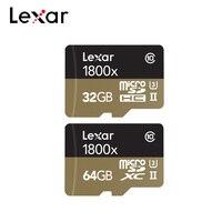 100% Original Lexar 1800x Memory Card 32GB 64GB Max Reading Speed 270MB/s UHS II Class 10 U3 Micro SD Card