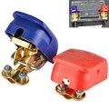 Liberação rápida Grampos Conectores Terminais Da Bateria de 12 V UM Par Car Van Caravan Motorhome ON/OFF Snap on