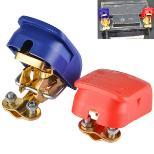 Universal 2pcs 12V Quick Release Battery Terminals Clamps for Car Caravan Boat Motorcycle Car-styling(China)