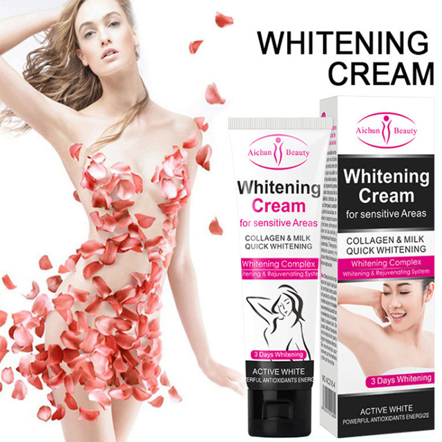 Free Shipping Underarm Whitening Cream Legs Knees Private Parts Body Whitening CreamArmpit Whitening Cream Dropshipping
