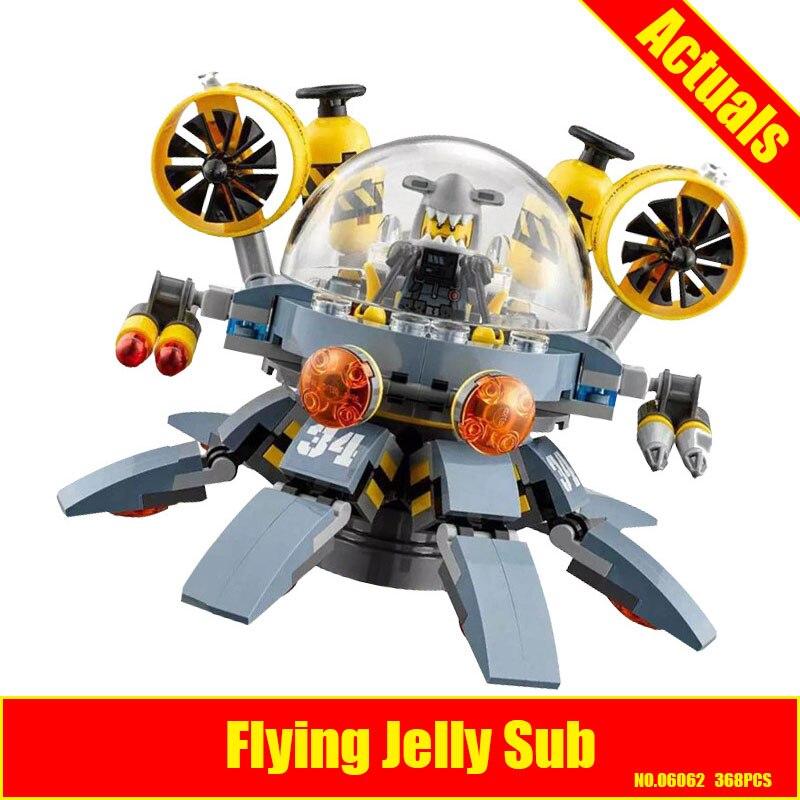 Lepin 06062 368pcs ninja Movie Flying Jelly Sub Building Blocks bricks DIY Compatible 70610 Brick Toy