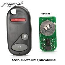 أزرار jingyuqin 2 + 1 مفتاح ريموت دخول بدون مفتاح لسيارة Honda NHVWB1U521 433 ميجاهرتز لسيارة Civic 2001 -2005 NHVWB1U523 مفتاح