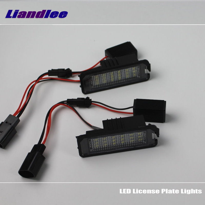 2pcs led tail number license plate lights lamp for seat ibiza 6l ab