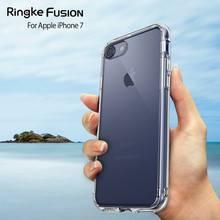 Futerał Ringke Fusion do etui iphone 8 i etui SE2 przezroczysty futerał na komputer i miękki futerał hybrydowy TPU