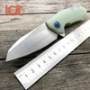 LDT Ball Bearing 0456 Tactical Folding Knife G10 Handle D2 Blade Flipper Hunting Knife Pocket Camping